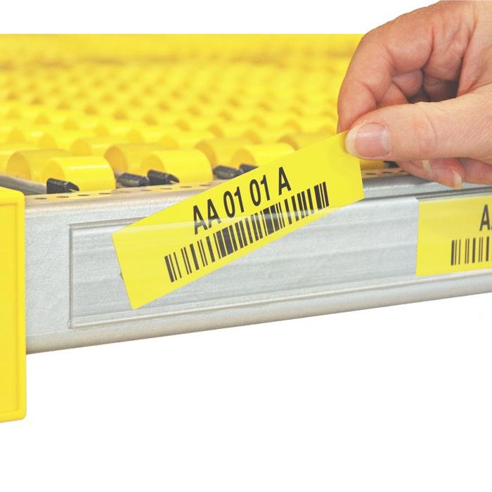 Zelfklevende etikethouder voor stellingbreedte 1500 mm